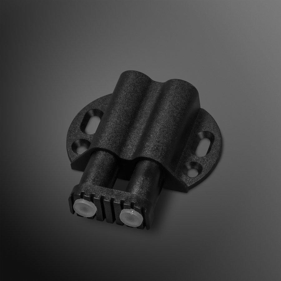 Zwarte druksnapper met dubbele buffer 13mm – zwart