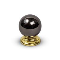 Meubelgreep BLACK NICKEL GOLD 25mm