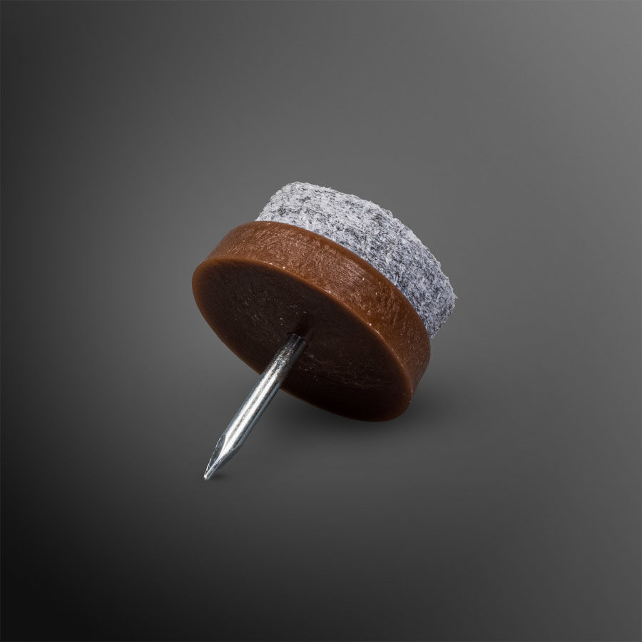 Viltglijder spijkerbaar Ø 19mm - bruin