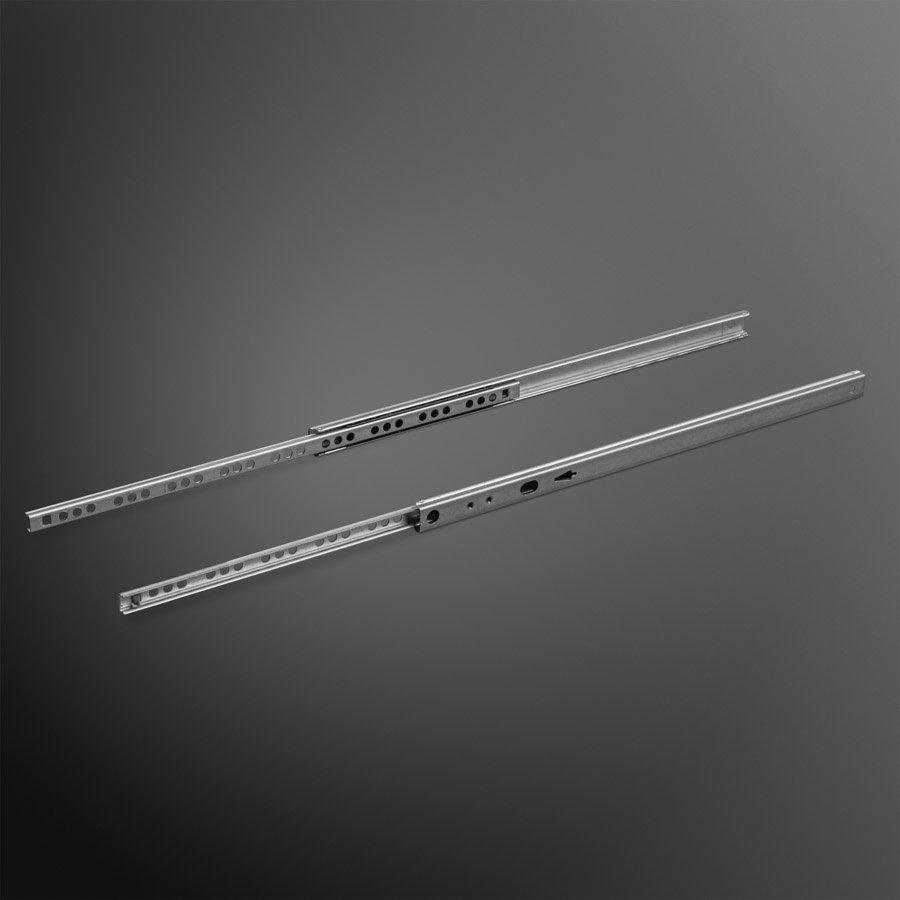 Groef ladegeleider 374mm  - 17 x 10 mm kogelgelagerd