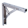 Inklapbare Plankdrager Staal Nikkel 200x185mm