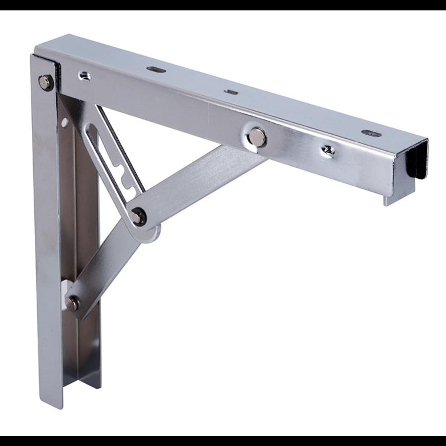 Inklapbare Plankdrager Staal Nikkel 405x405mm