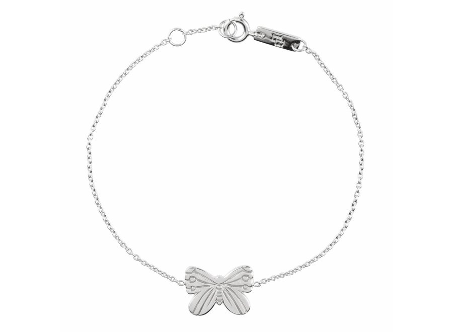 Moeder Armband 'Spread your wings and Fly' Zilver