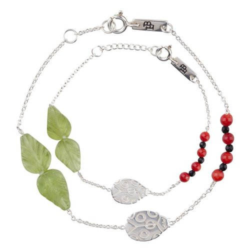 Lennebelle Petites Giftset 'You are my lovely little ladybug' Zilver