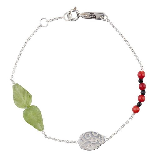 Lennebelle Petites Moeder Armband 'You are my lovely little ladybug' Zilver