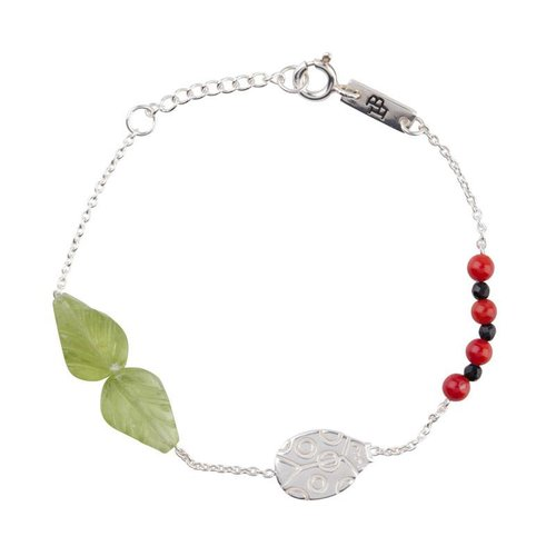 Lennebelle Petites Dochter Armband 'You are my lovely little ladybug' Zilver