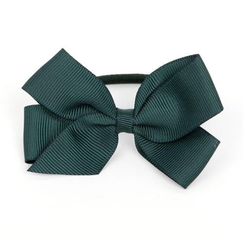 Verity Jones London Medium Black Bow Hair Elastic