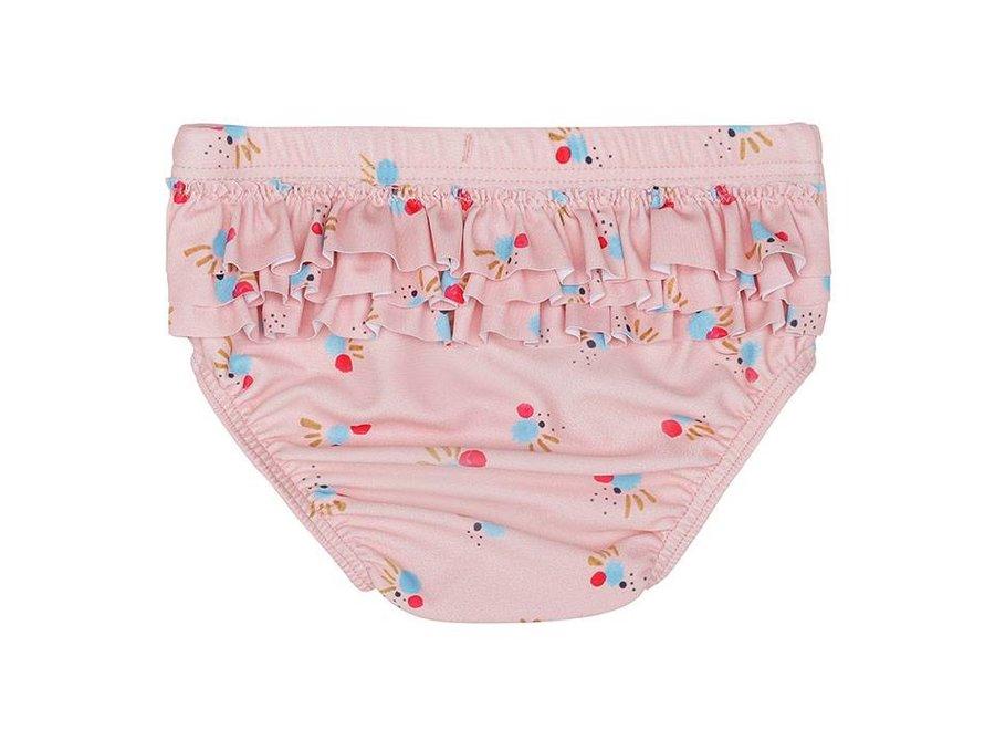 Mina Swim Pants, Chintz Rose, AOP Cockatoo