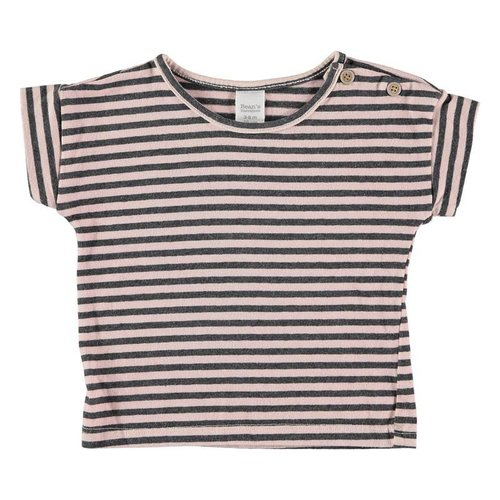 Bean's Barcelona Striped T-shirt Pink-Grey