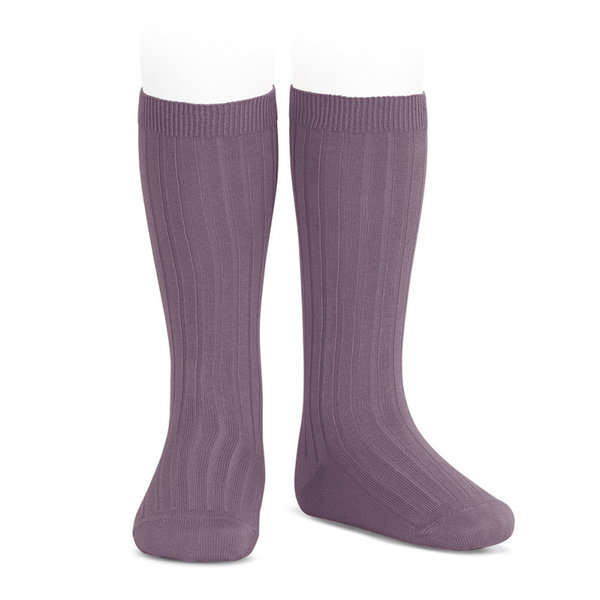 Rib Stockings Amethyst