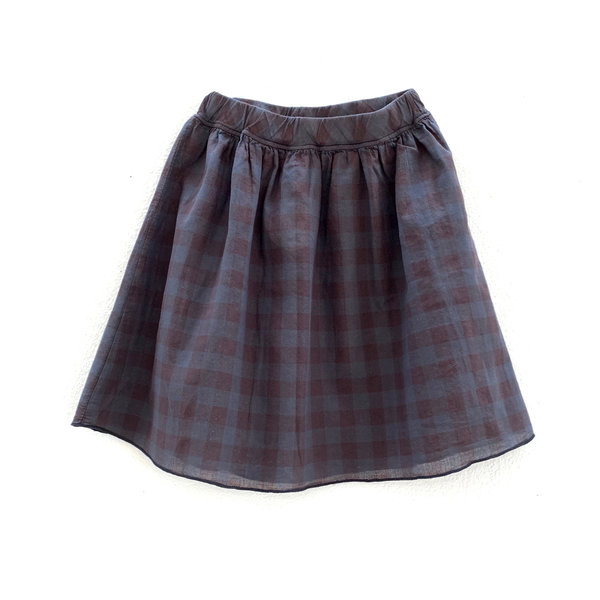 Longlivetheskirt almost black upcycled check