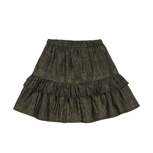 Soft Gallery Fern Skirt, Black w. Gold lurex