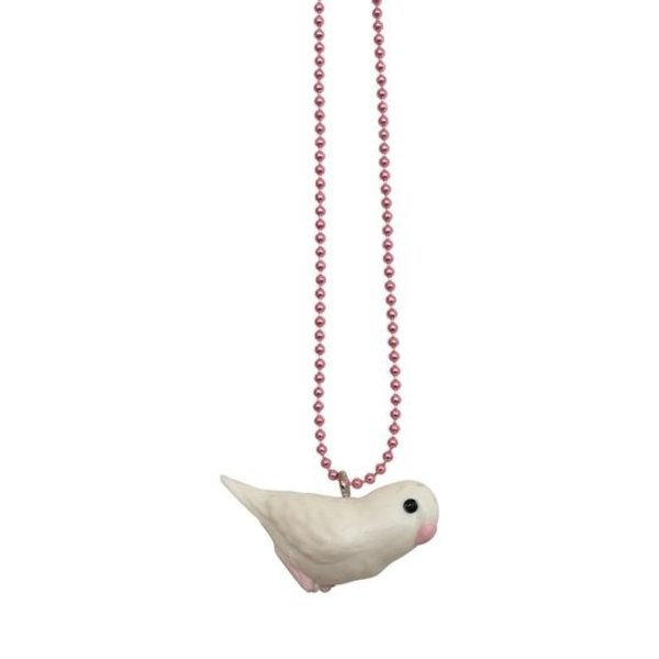 Limited Pop Cutie Mixed Bird Necklaces White