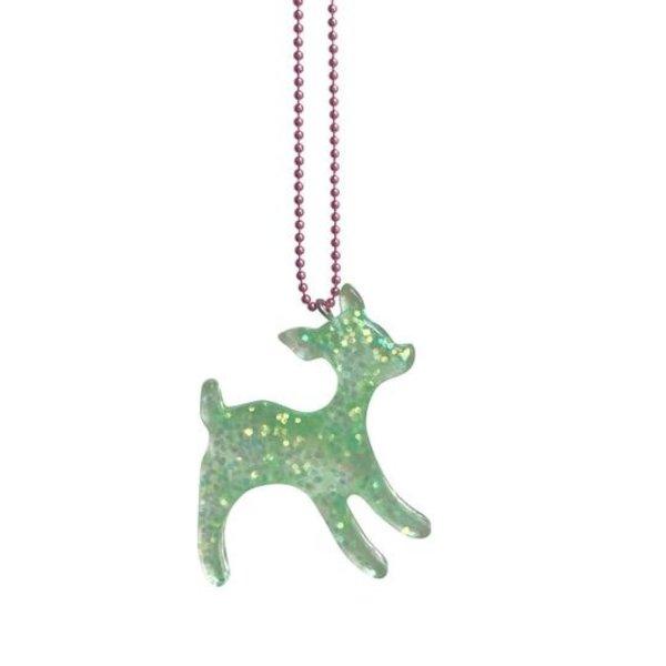 Limited  Harajuku Deer Necklace Green
