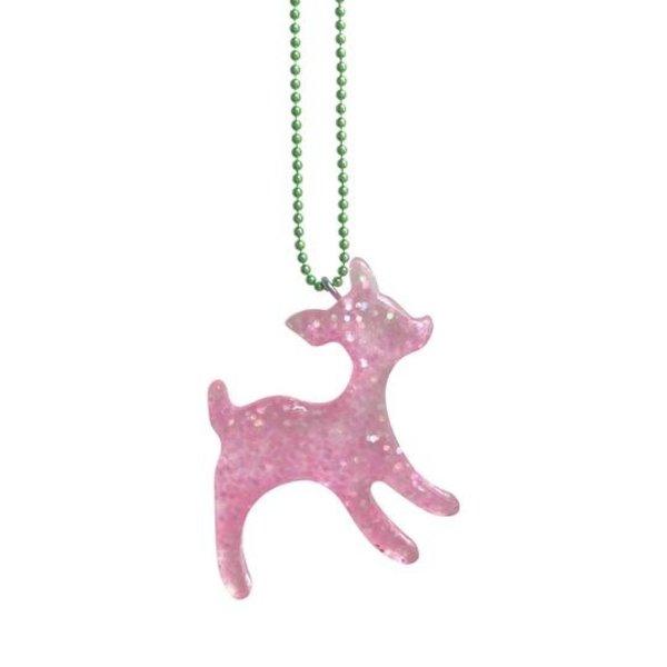 Limited  Harajuku Deer Necklace Pink