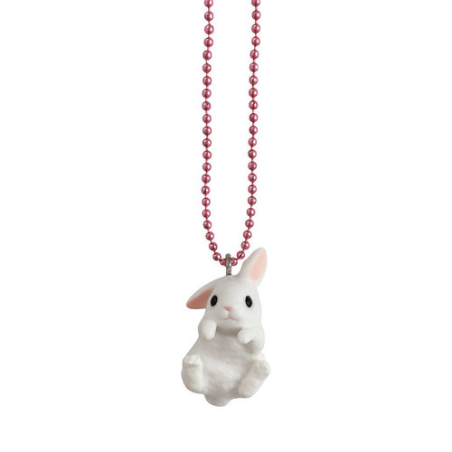 Pop Cutie Limited Edition Necklaces featuring Bunnies- white