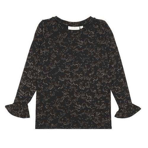 Soft Gallery Elia T-Shirt, Jet Black, AOP Flowerdust