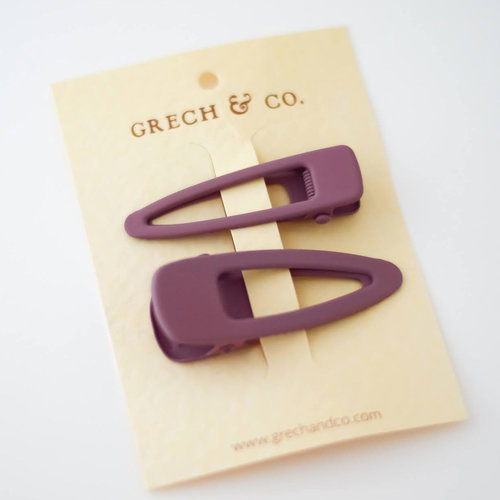 Grech & Co Matte Clip - set of 2 Burlwood
