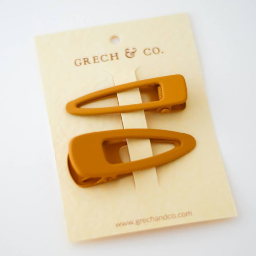Grech & Co Matte Clip - set of 2 Golden