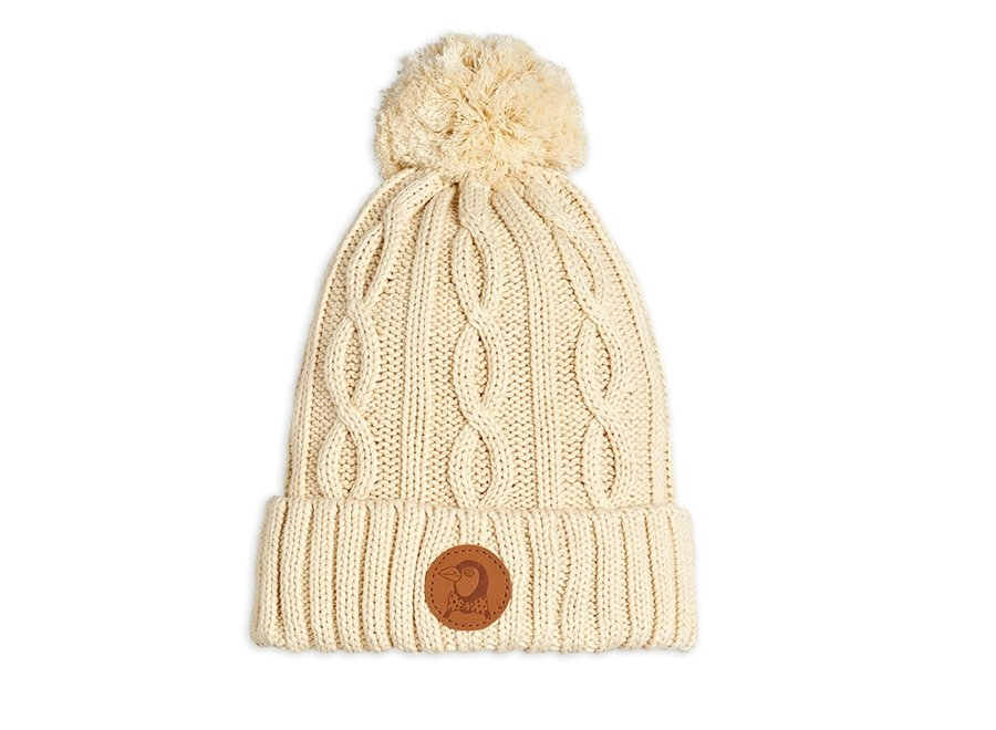 Cable knitted pompom hat Offwhite - Limited Stock