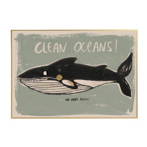 Studioloco design XL Poster Clean Oceans -50 x 70 CM