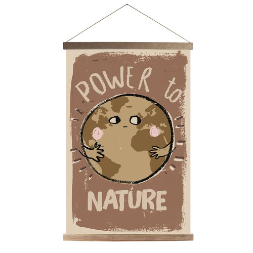 Studioloco design Canvas poster Power to Nature  43 X 63 - With wooden frame
