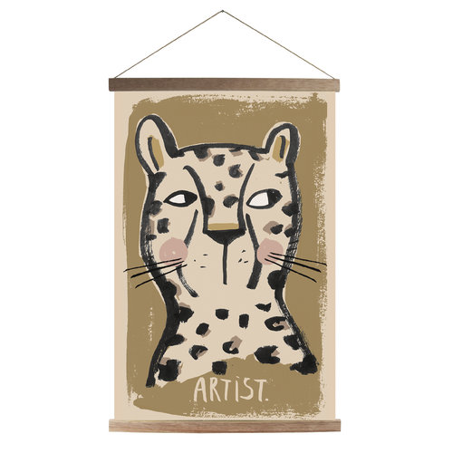 Studioloco design Canvas poster Leo 43 X 63 - With wooden frame