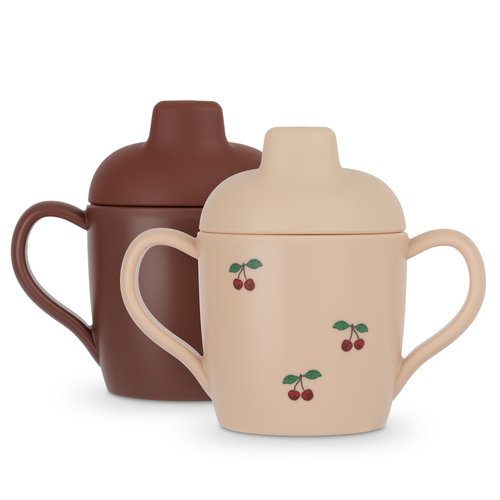 Konges Sløjd 2 PACK Sippy Cup - Cherry