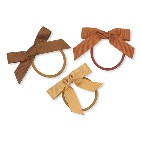 Konges Sløjd 3 Pack Hair Elastic Bows - Moonbeam