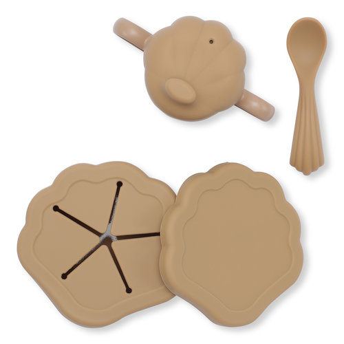 Konges Sløjd Silicone Clam Set - Terra Cotta