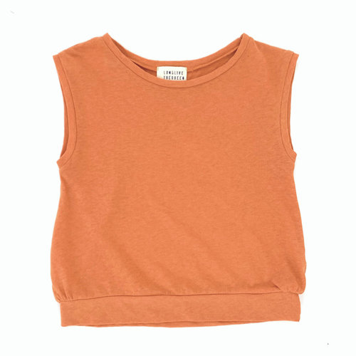 Long Live The Queen Sleeveless Tee Pumpkin