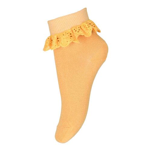 MP Denmark Filippa socks with lace - Ochre