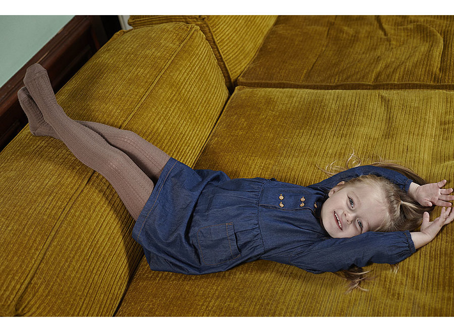 Superwash wool tights Hanna brown Sienna