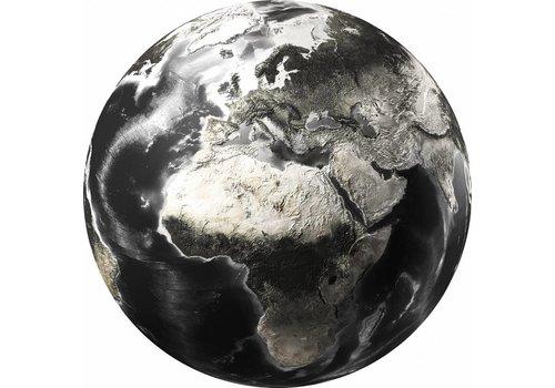 Glas schilderij rond world dia 100cm
