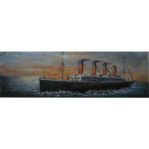 Schilderij 3D metaal Titanic 56x180cm