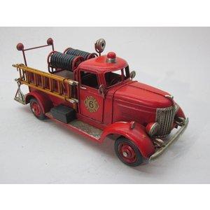 Eliassen Miniatuurmodel blik Brandweer wagen met slangen