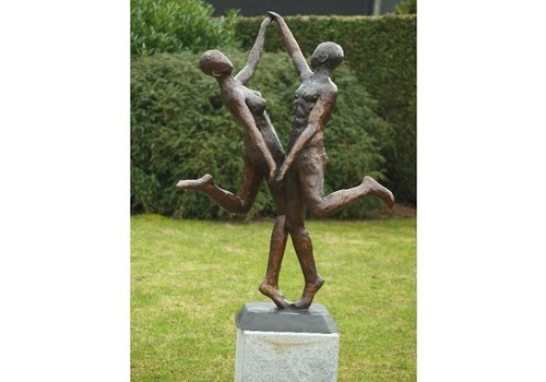 Bronzen beeld modern danspaar