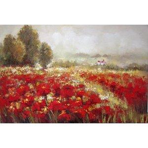 Eliassen Olieverf schilderij Bloemenveld 160x84cm