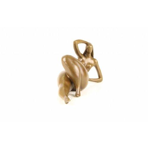 Eliassen Bronzen beeld Dikke vrouw Liggend 1