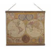 Wandkaart Definitieve kaart van de wereld