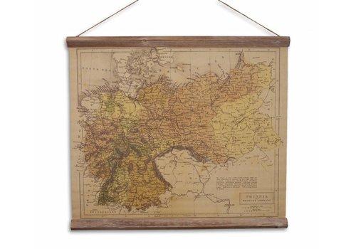 Wandkaart Pruisen en Duitsland