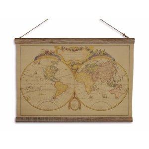 Eliassen Wandkaart Mappe du Monde