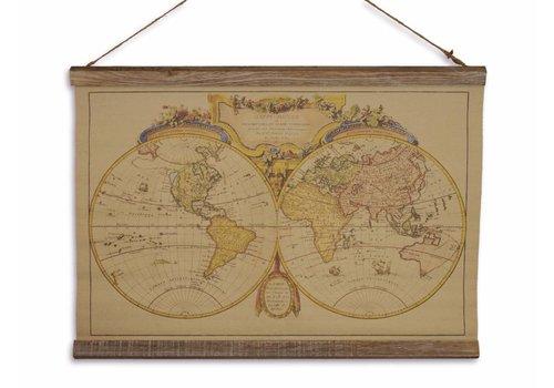 Wandkaart Mappe du Monde