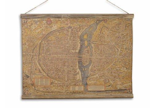Wandkaart De Stad Parijs