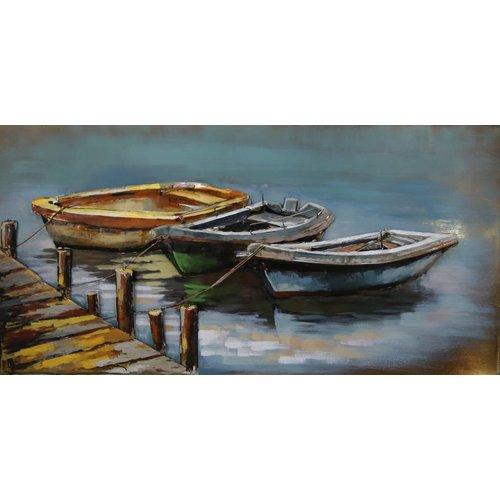 Eliassen Metalen 3d schilderij Rij Boten