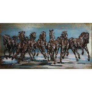 Eliassen Metalen 3d schilderij Paarden rennend