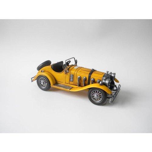 Eliassen Miniatuurmodel blik Sportauto geel
