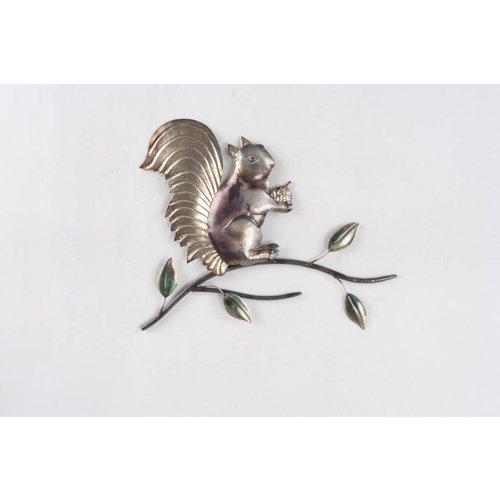 Eliassen 3d wanddecoratie Eekhoorn metaal