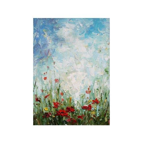 Eliassen Olieverf schilderij Wilde Bloemen 1  50x70cm