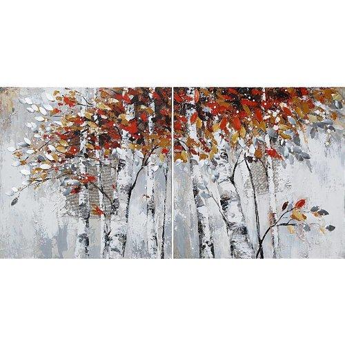 Eliassen Olieverf schilderij tweeluik 200x100cm Bos